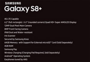 Samsung Galaxy S8+ With Massive 6.2-Inch Screen