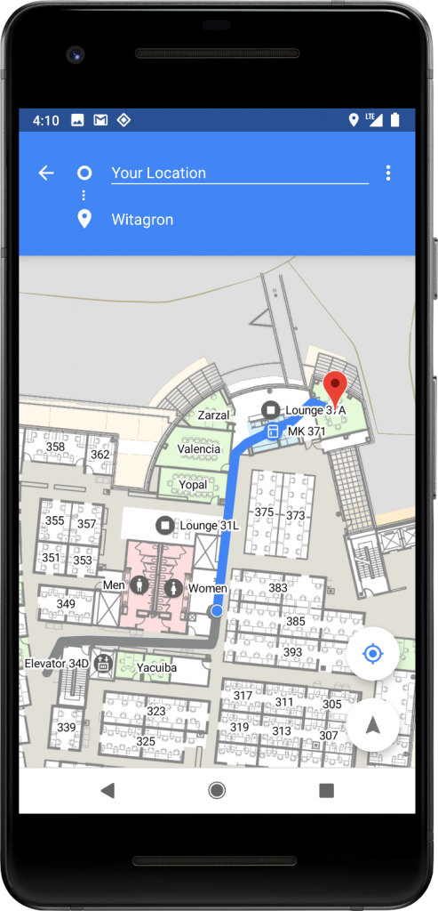 Indoor navigation using Wifi