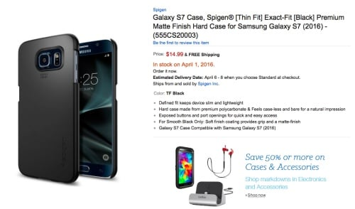 Smartphone Cases Reveal Four Samsung Galaxy S7 Models